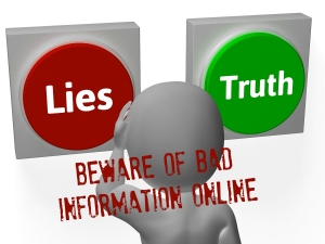 Lies Truth Buttons Showing Untrue Or Correct