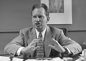 Sci-fi author/conspiracy theorist/ Scientology founder L. Ron Hubbard.